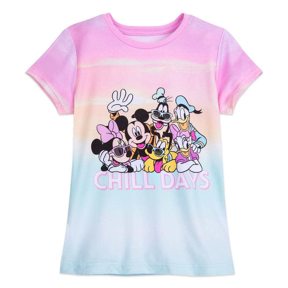 Mickey Mouse and Friends Dip Dye T-Shirt for Girls
