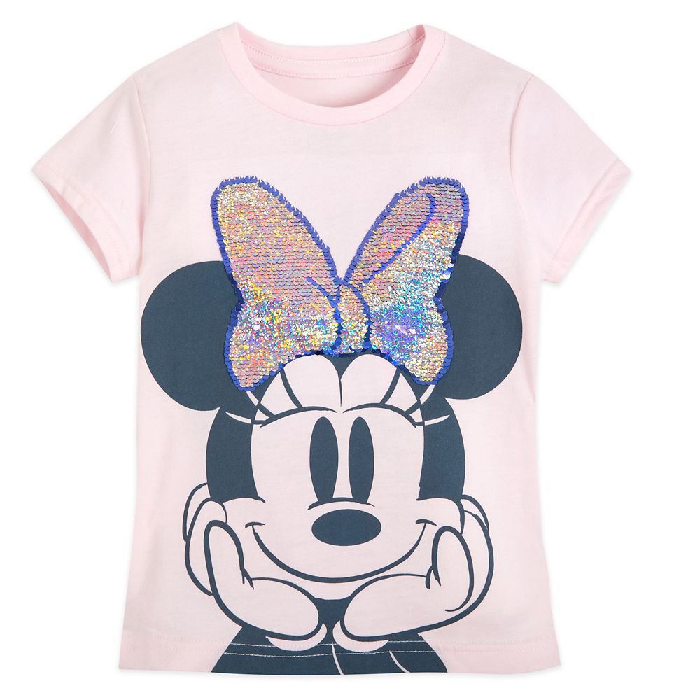 Minnie Mouse Flip Sequin T-Shirt for Girls