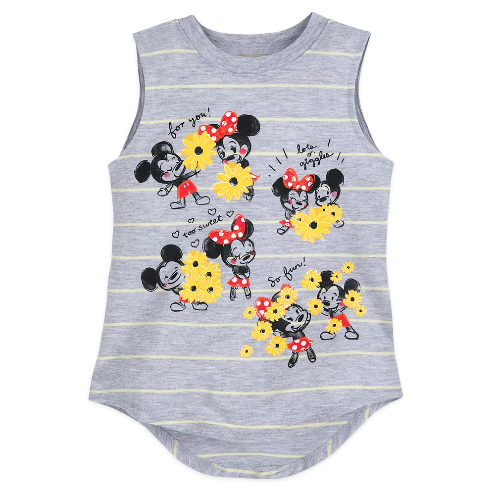 Mickey and Minnie Mouse Striped Tank Top for Girls