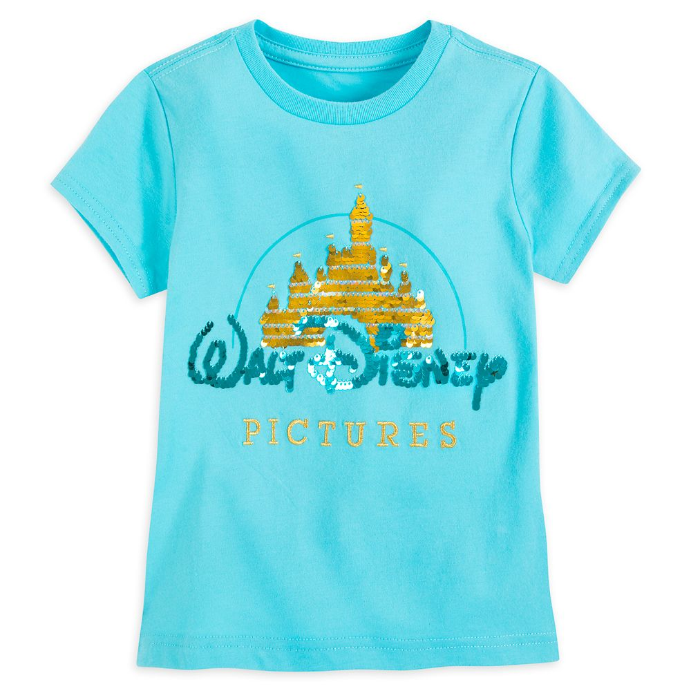 Walt Disney Pictures Logo Flip Sequin T-Shirt for Girls