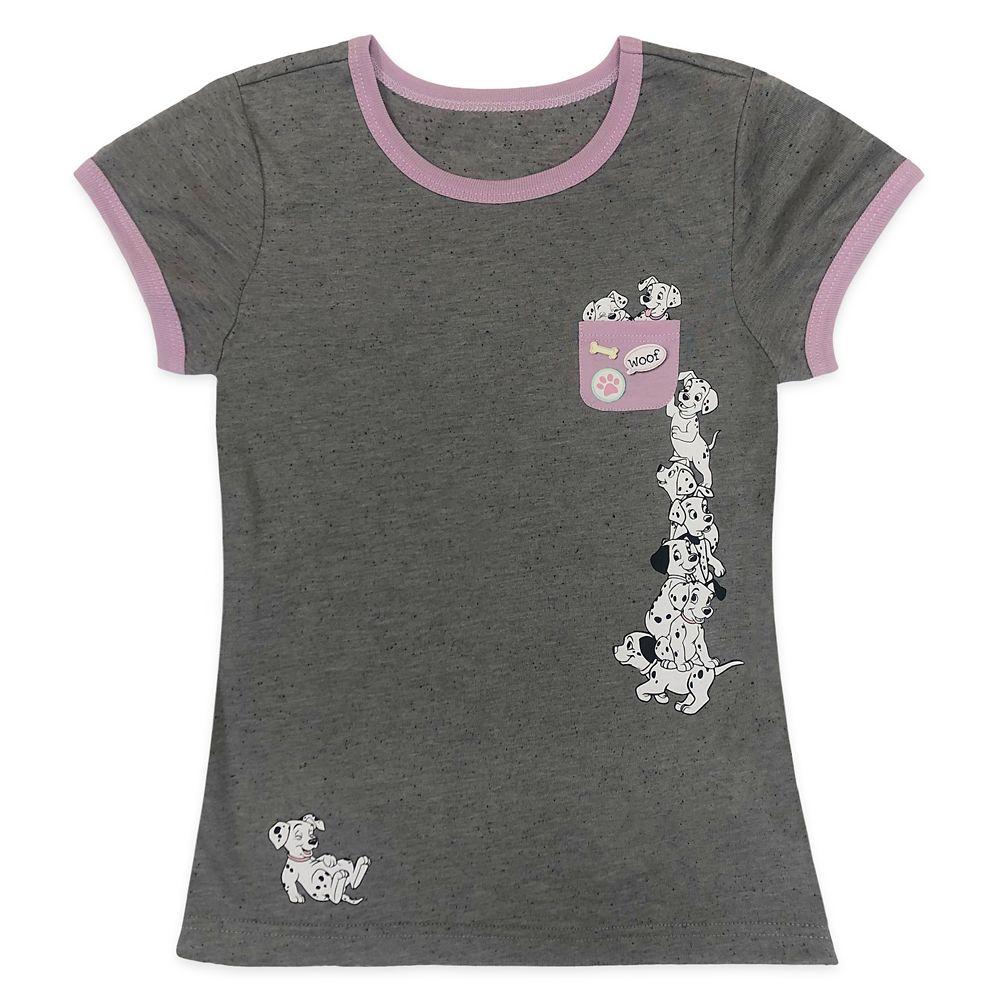 101 Dalmatians Pocket Ringer T-Shirt for Girls Official shopDisney