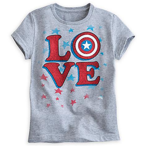 Captain America Shield ''Love'' Tee for Girls