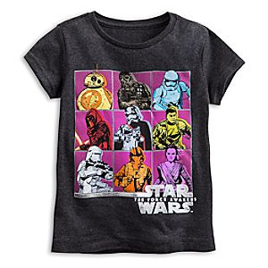 Star Wars: The Force Awakens Cast Tee for Girls