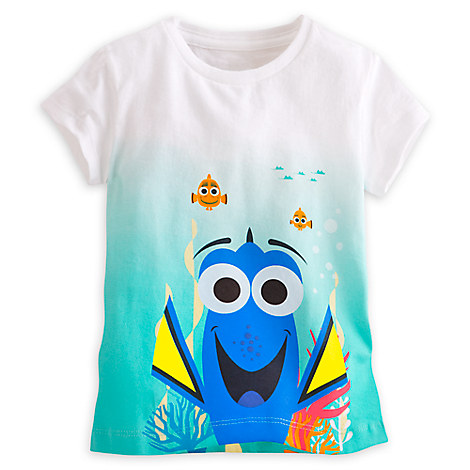 Dory Dip Dyed Tee for Girls - Finding Dory