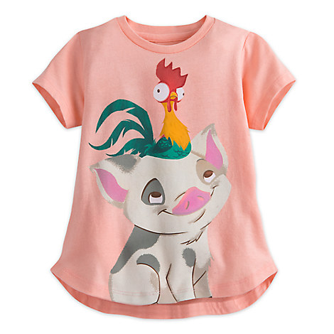 Pua and Heihei Tee for Girls - Disney Moana