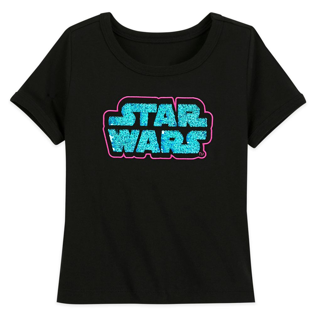 Star Wars Logo Flip Sequin T-Shirt for Girls