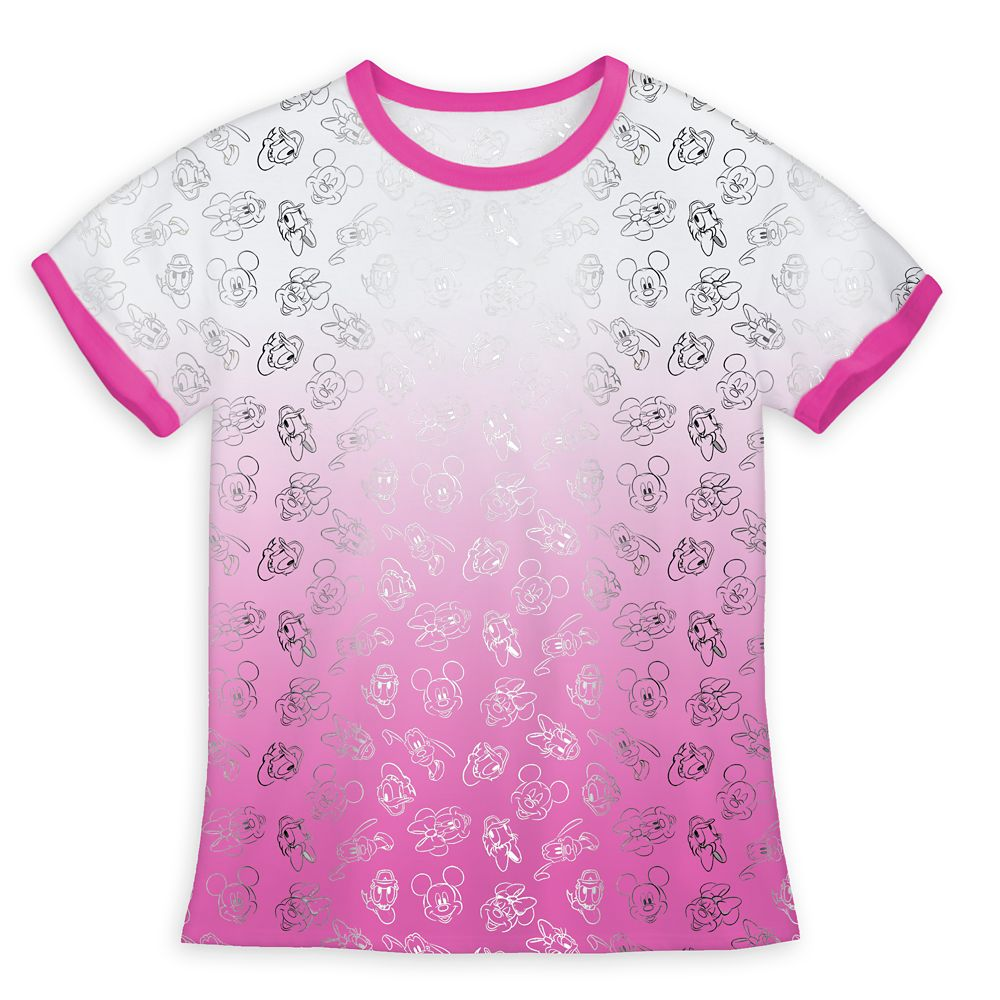 Mickey Mouse and Friends Allover Dip-Dye Ringer T-Shirt for Girls Official shopDisney