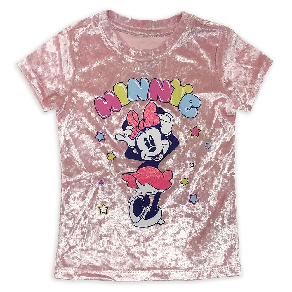 Minnie Mouse Velour T-Shirt for Girls