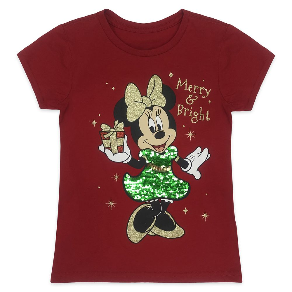 Minnie Mouse Reversible Sequin Holiday T-Shirt for Girls