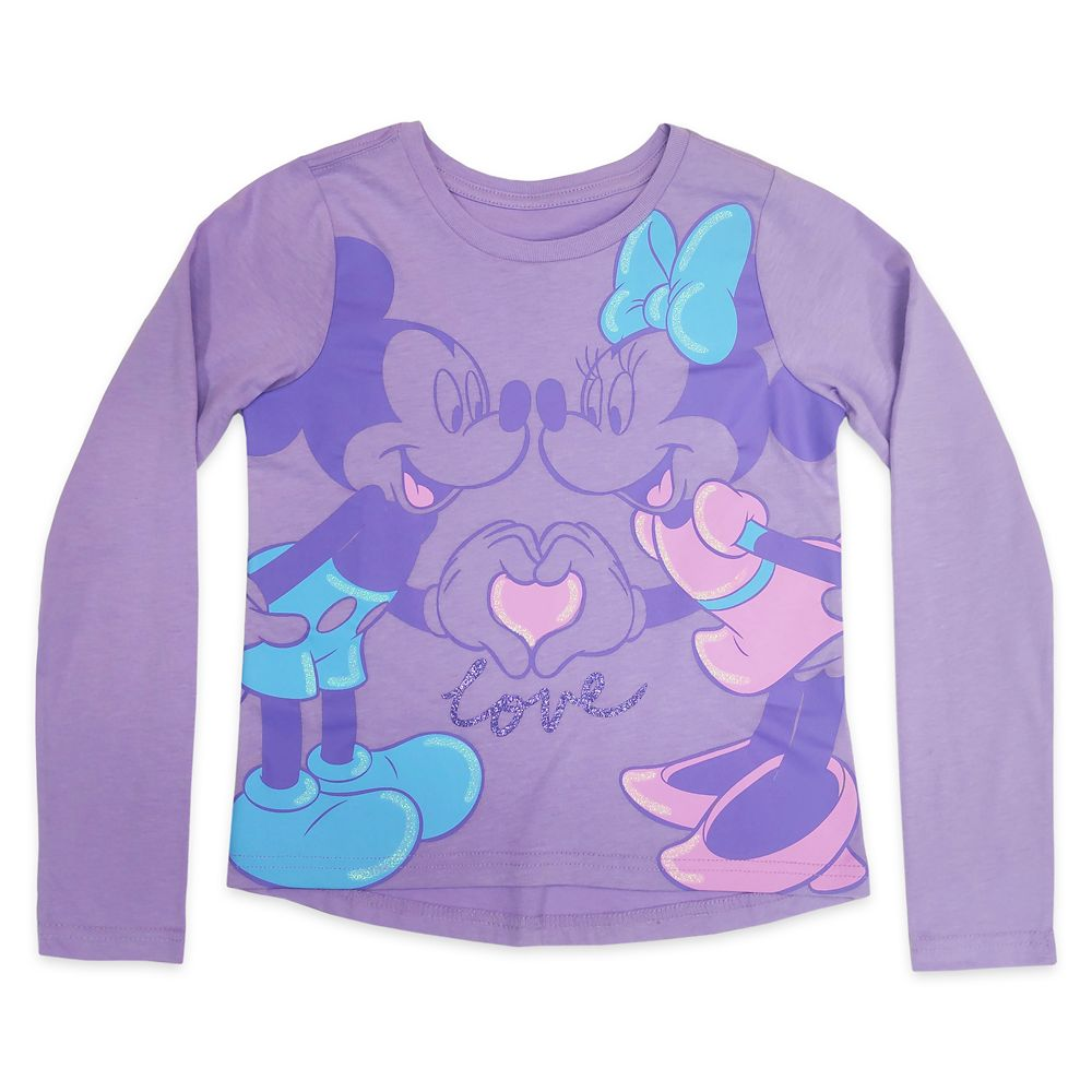 Mickey and Minnie Mouse Long Sleeve T-Shirt for Girls