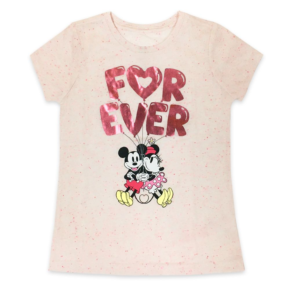 Mickey and Minnie Mouse ''Forever'' T-Shirt for Girls Official shopDisney