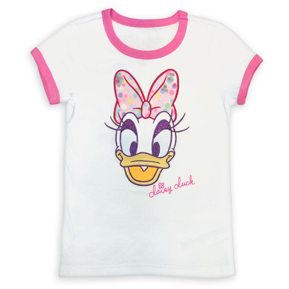 Daisy Duck Ringer T-Shirt for Girls