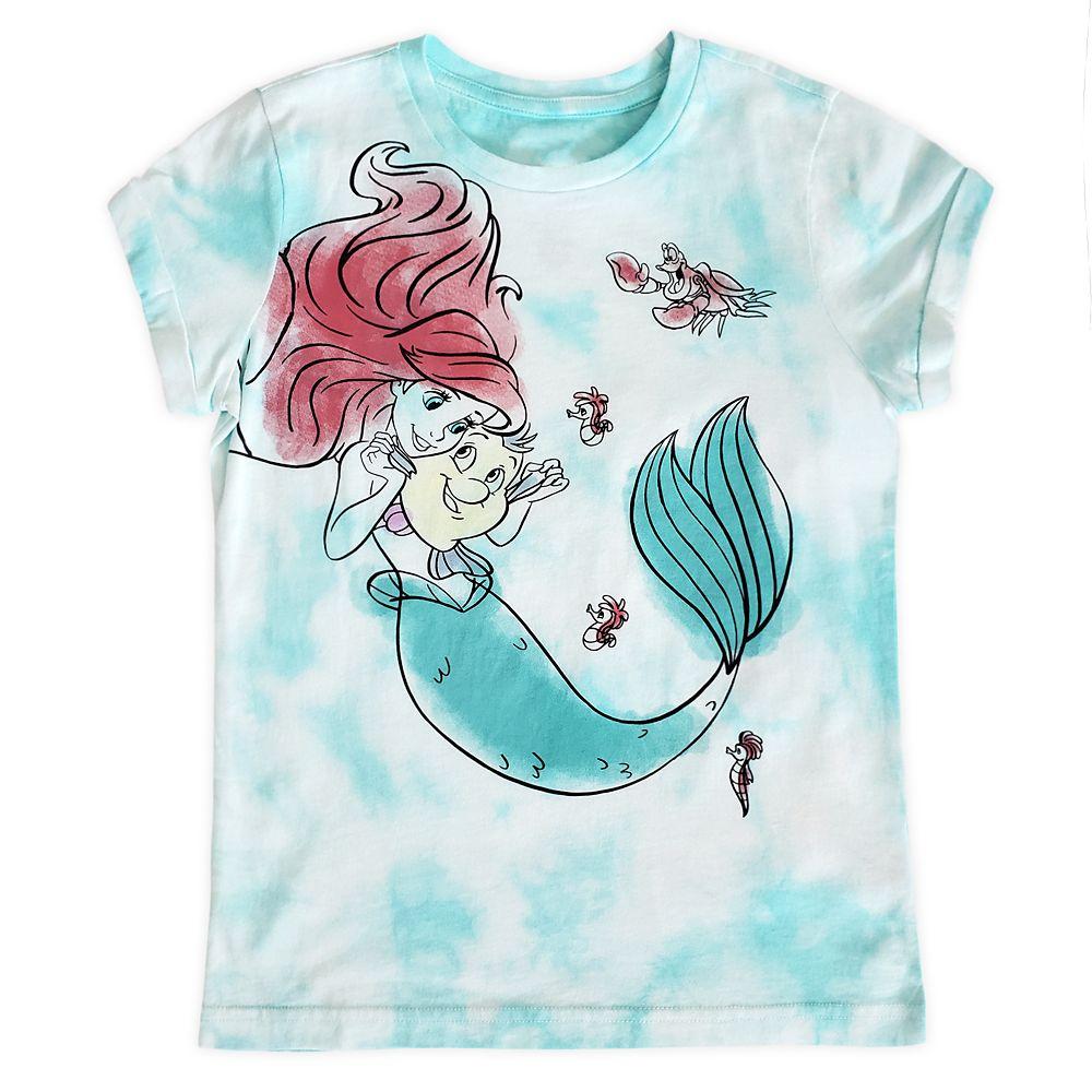 The Little Mermaid Tie-Dye T-Shirt for Kids