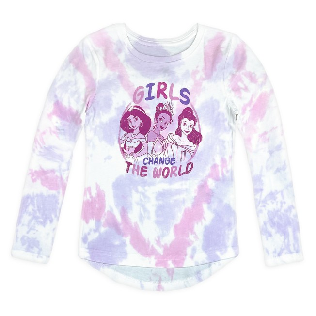 Disney Princess Long Sleeve Tie Dye T-Shirt for Girls