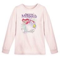 The Little Mermaid Long Sleeve Sequined T-Shirt for Girls
