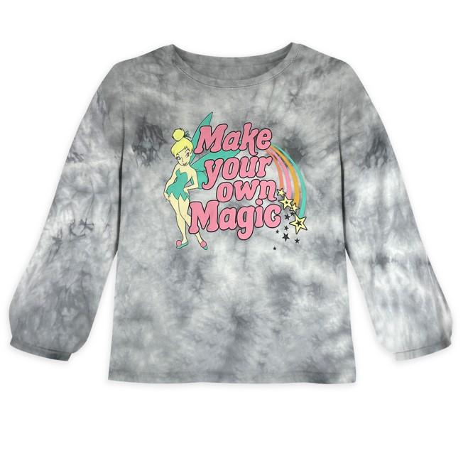 Tinker Bell Long Sleeve Tie Dye T-Shirt for Girls – Peter Pan