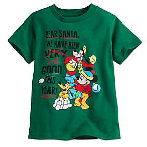Mickey Mouse and Friends Holiday Tee for Boys