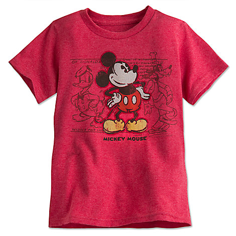 Mickey Mouse and Friends Tee for Boys - Red