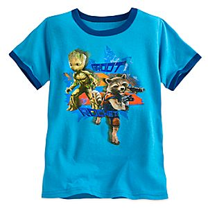 Groot and Rocket Raccoon Ringer Tee for Boys - Guardians of the Galaxy Vol. 2 5622045531755M
