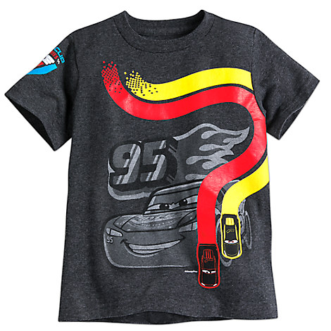 Lightning McQueen Tee for Boys - Cars 3 - Gray