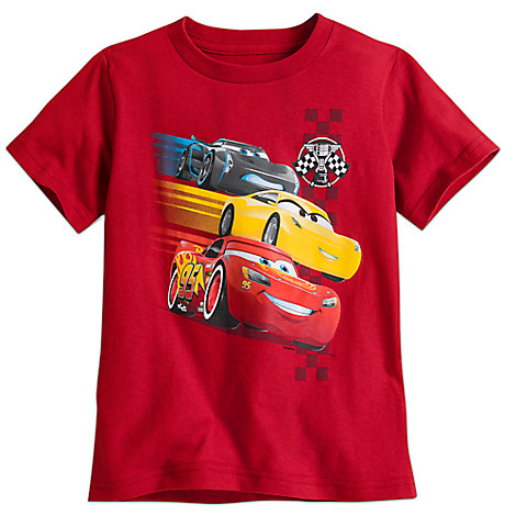 Cars 3 Tee for Boys - Red