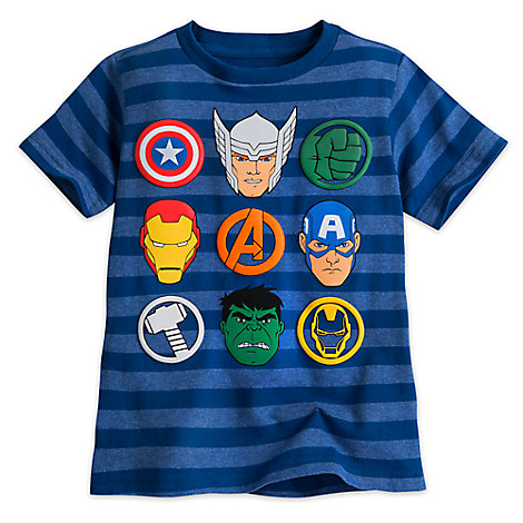 Avengers Striped Tee for Boys