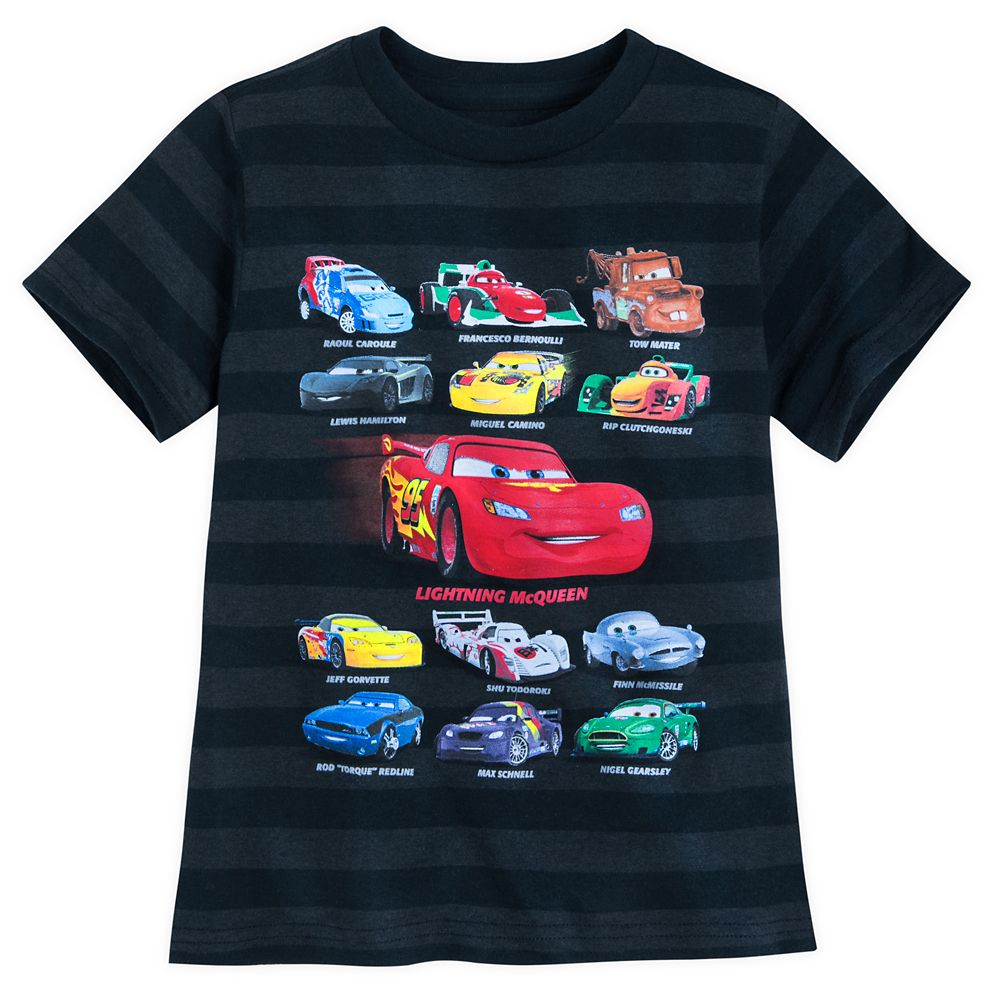 Cars Striped T-Shirt for Boys
