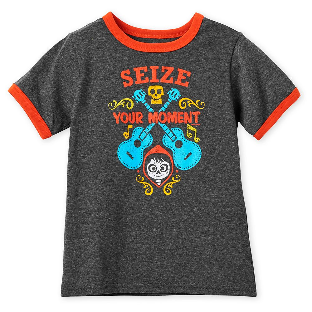 Coco ''Seize Your Moment'' Ringer T-Shirt for Kids