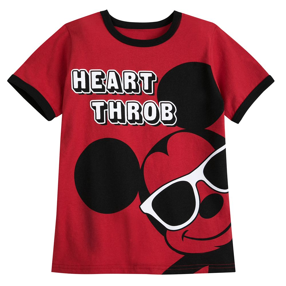 Mickey Mouse ''Heart Throb'' Ringer T-Shirt for Boys