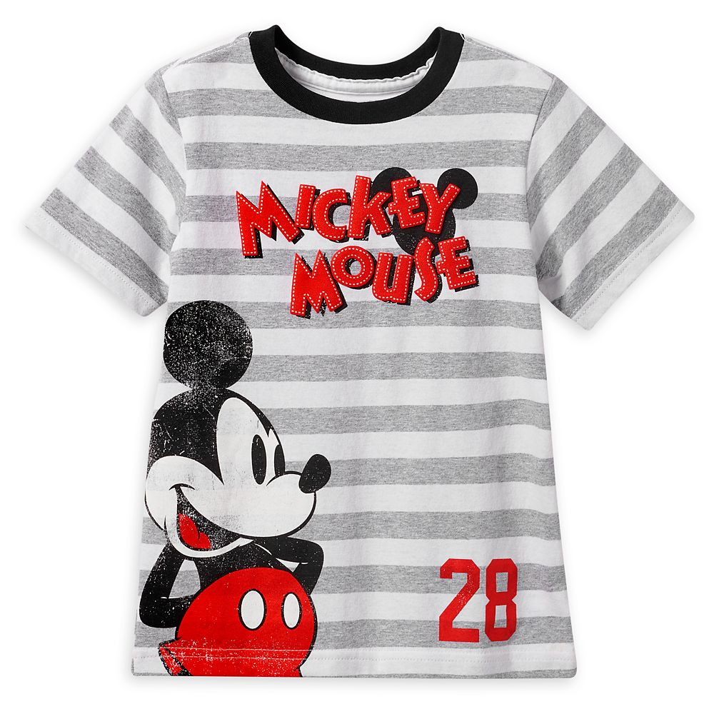 Mickey Mouse Striped T-Shirt for Boys