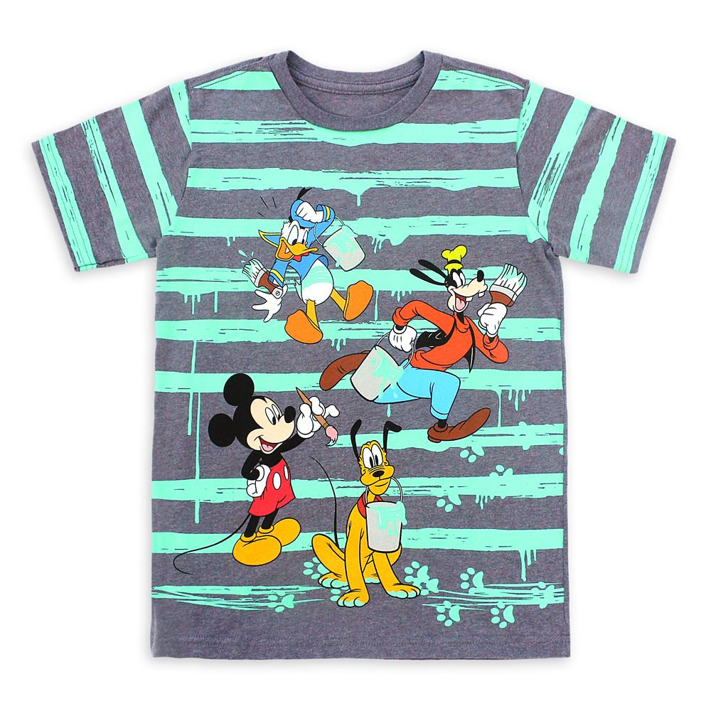 Mickey Mouse and Friends Striped T-Shirt for Kids
