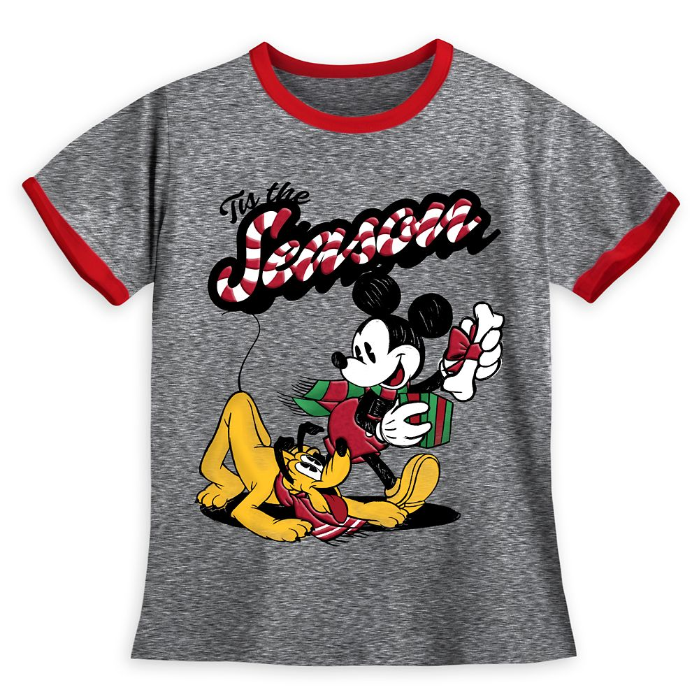 Mickey Mouse and Pluto Holiday Ringer T-Shirt for Boys Official shopDisney