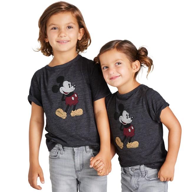 Mickey Mouse Classic T-Shirt for Kids – Dark Gray – Sensory Friendly