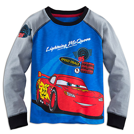 Lightning McQueen Long Sleeve Raglan Tee for Boys