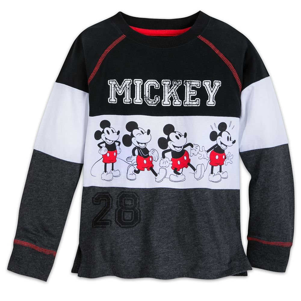 Mickey Mouse Long Sleeve Raglan Shirt for Kids