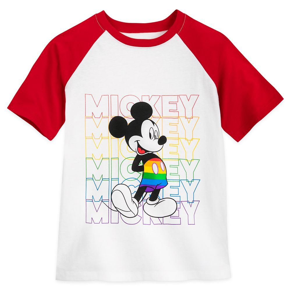 Rainbow Disney Collection Mickey Mouse Raglan T-Shirt for Kids – 2020
