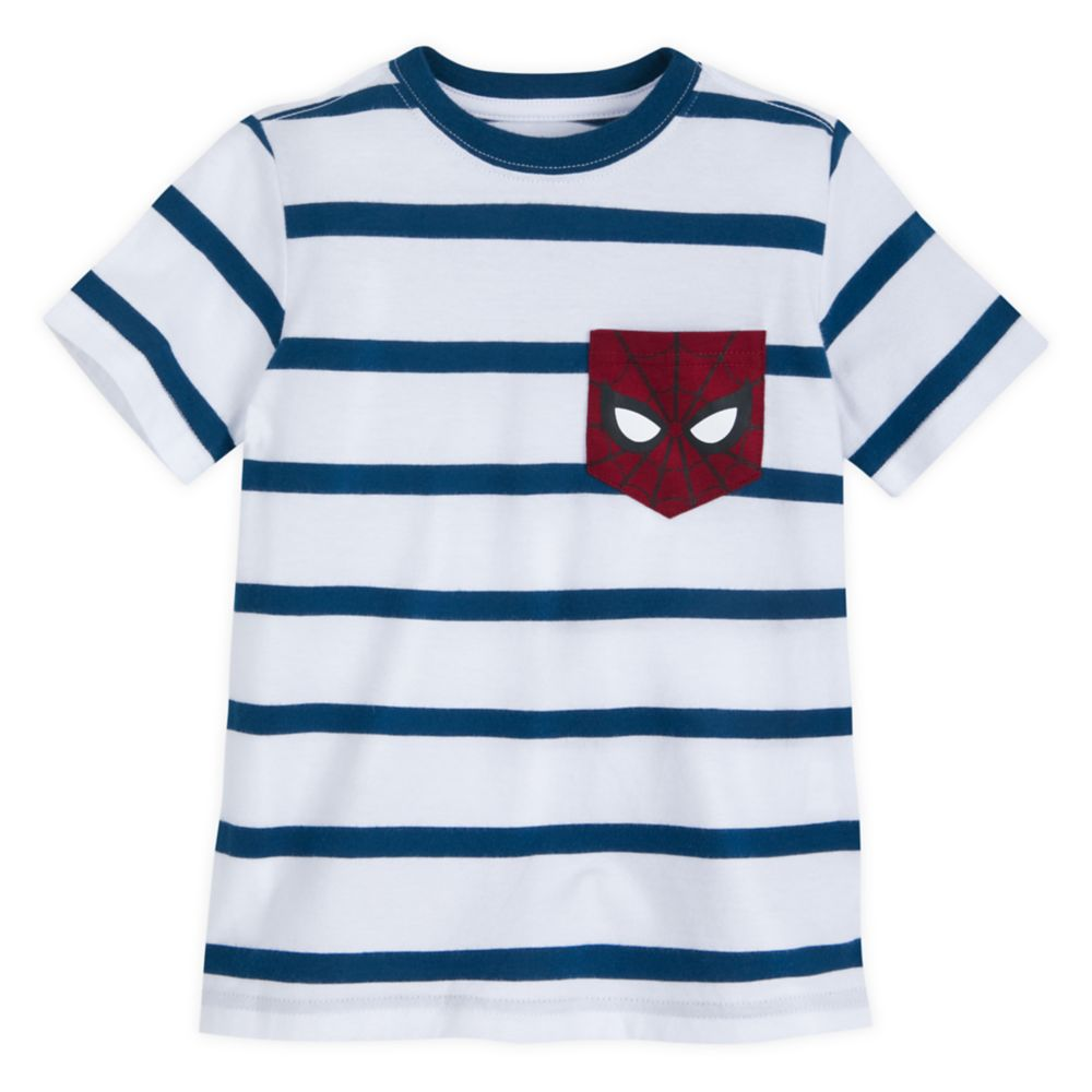 Spider-Man Striped T-Shirt for Kids
