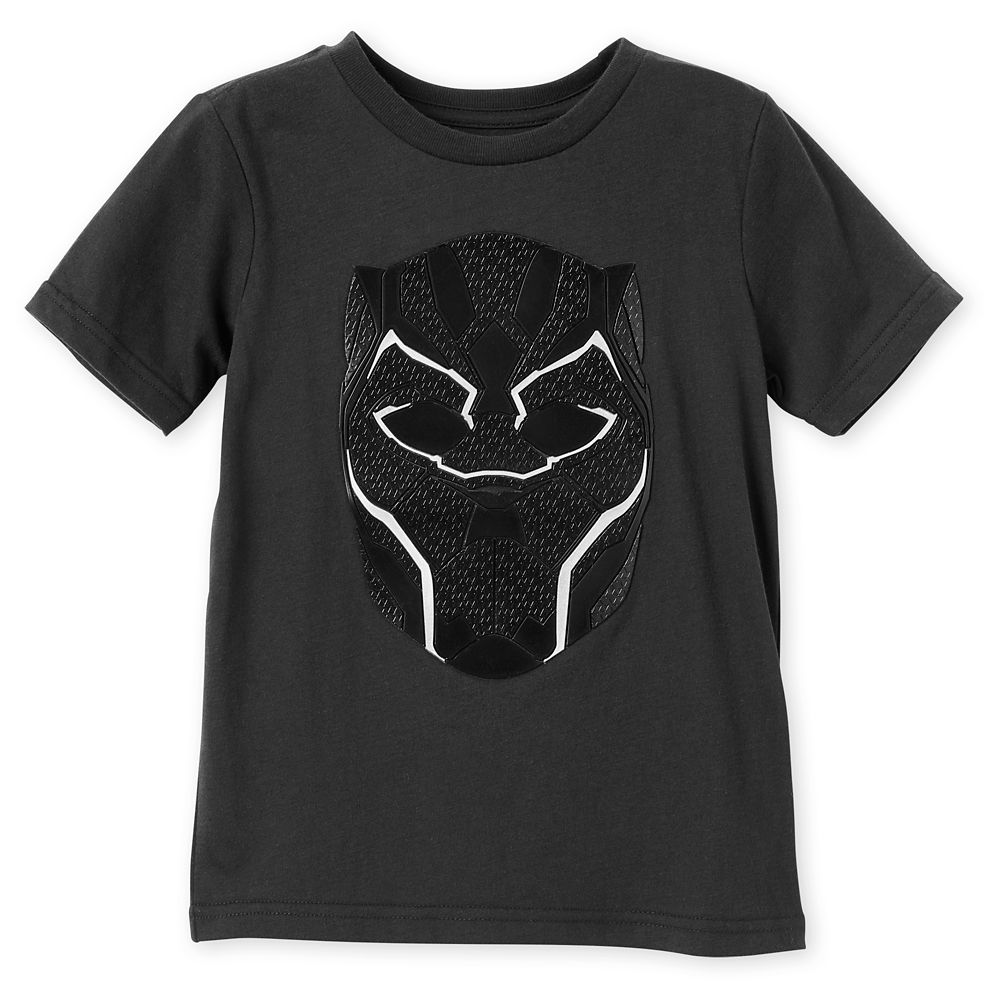 Black Panther Mask T-Shirt for Kids