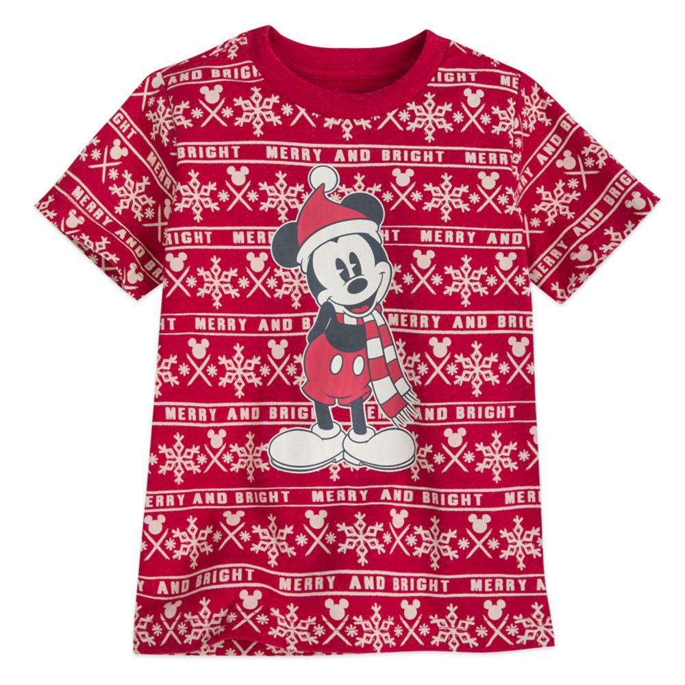 Mickey Mouse Holiday Cheer T-Shirt for Boys
