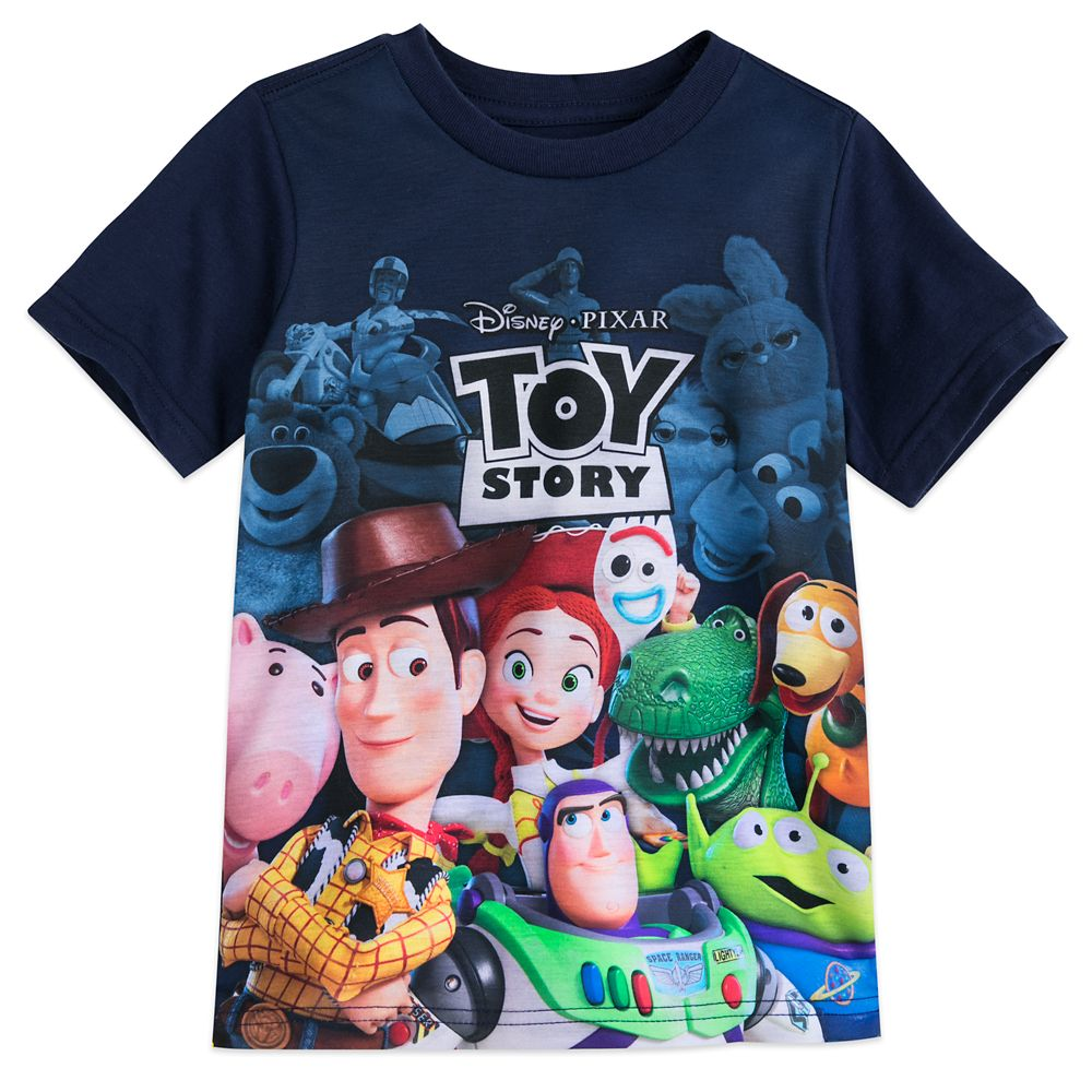 Toy Story Cast and Logo T-Shirt for Boys