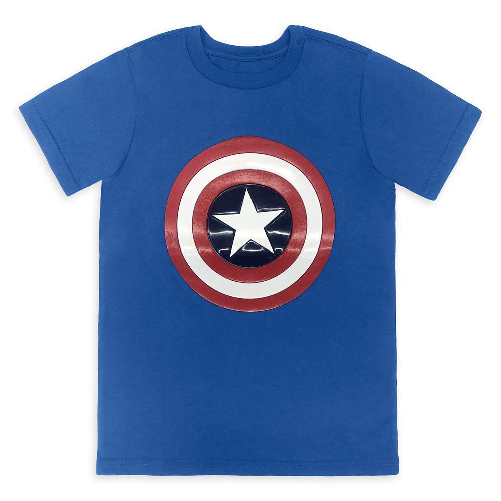 shopdisney.com - Captain America Shield T-Shirt for Boys Official shopDisney 18.99 USD