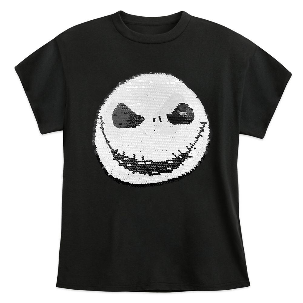 Jack Skellington Reversible Sequin T-Shirt for Kids – The Nightmare Before Christmas