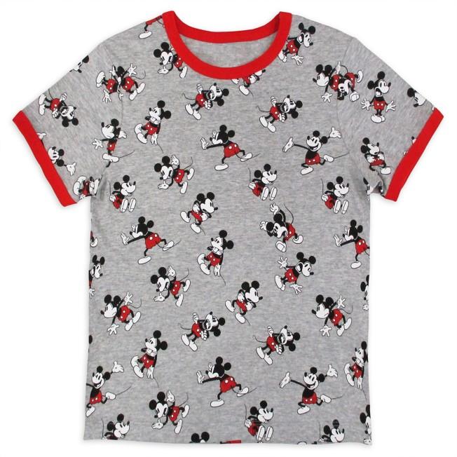 Mickey Mouse Allover Ringer T-Shirt for Kids