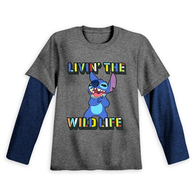 Stitch Long Sleeve Double-Up T-Shirt for Kids
