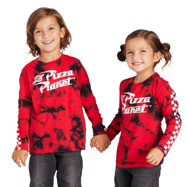 Pizza Planet Long Sleeve Tie Dye T-Shirt for Kids – Toy Story