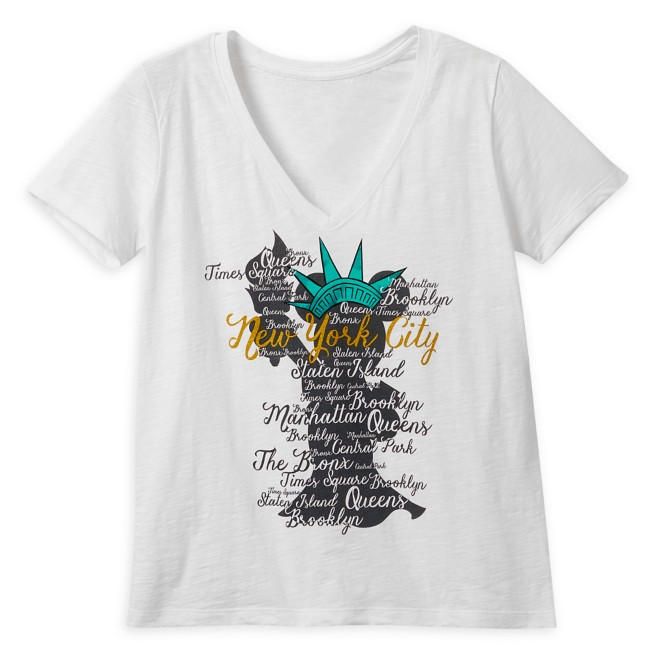 Minnie Mouse Statue of Liberty V-Neck T-Shirt for Women – New York City