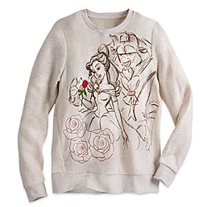 Beauty and the Beast Long Sleeve Pullover for Women