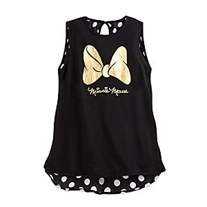 Minnie Mouse Bow Signature Tank for Juniors