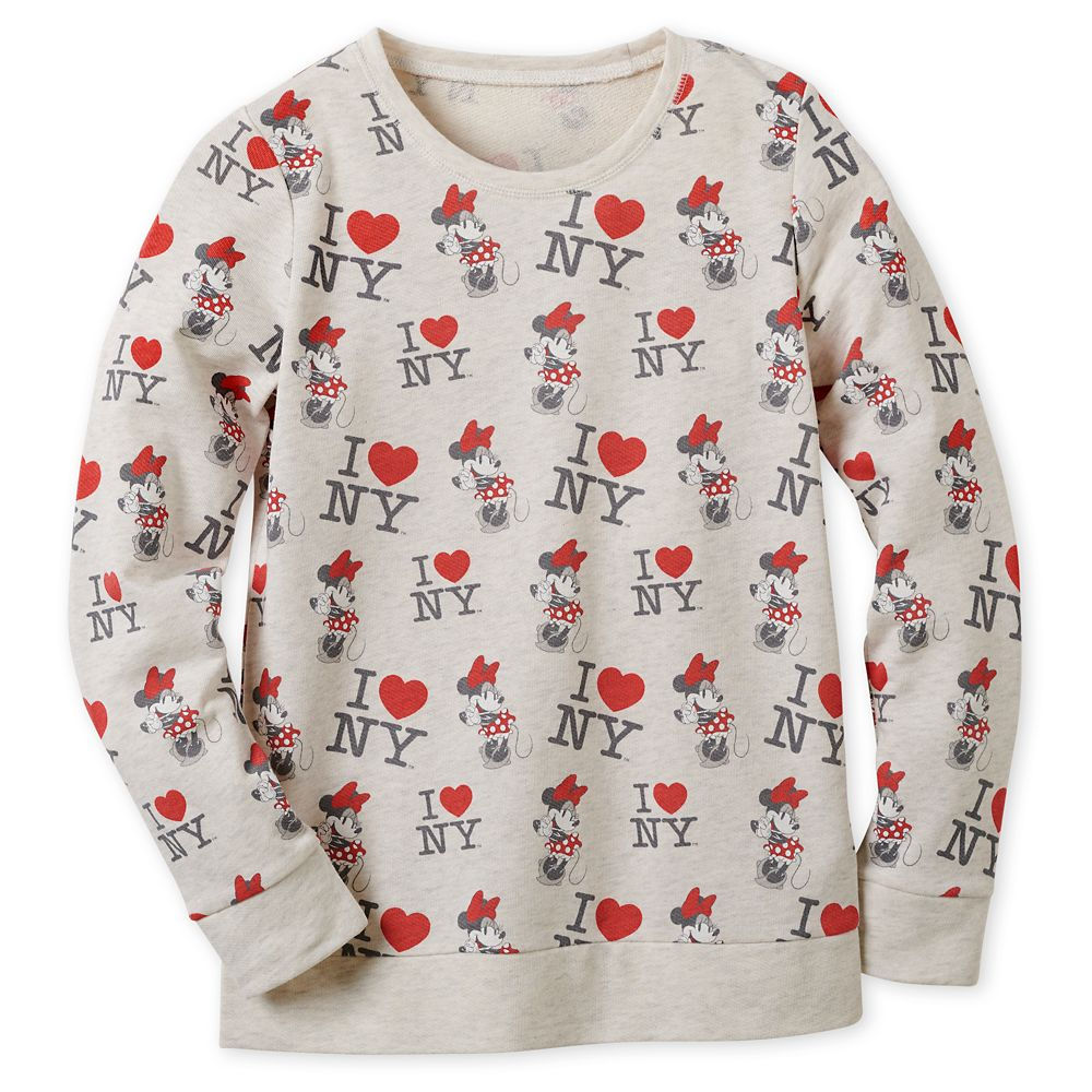 Minnie Mouse I ♥ New York Sweatshirt for Women – New York City