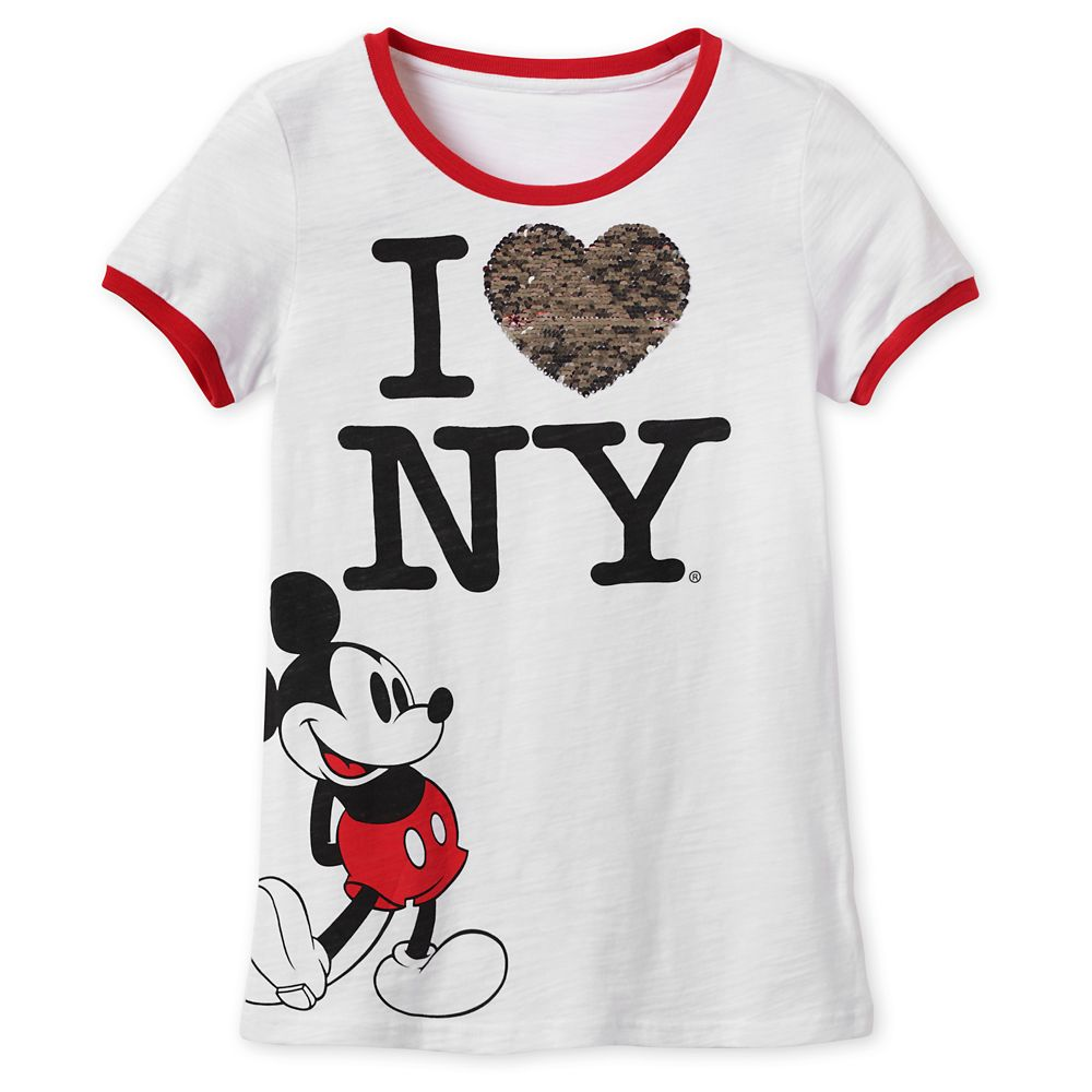 Mickey Mouse Reversible Sequin T-Shirt for Women – New York City